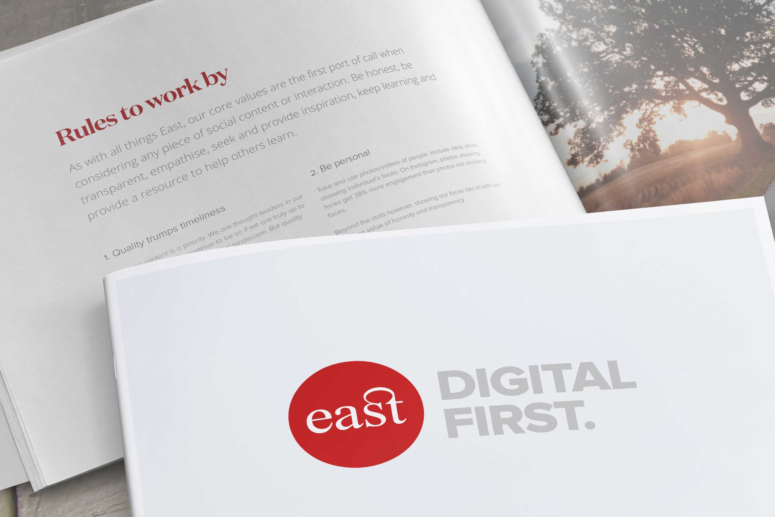 East Innovations Digital First Brand Guidelines